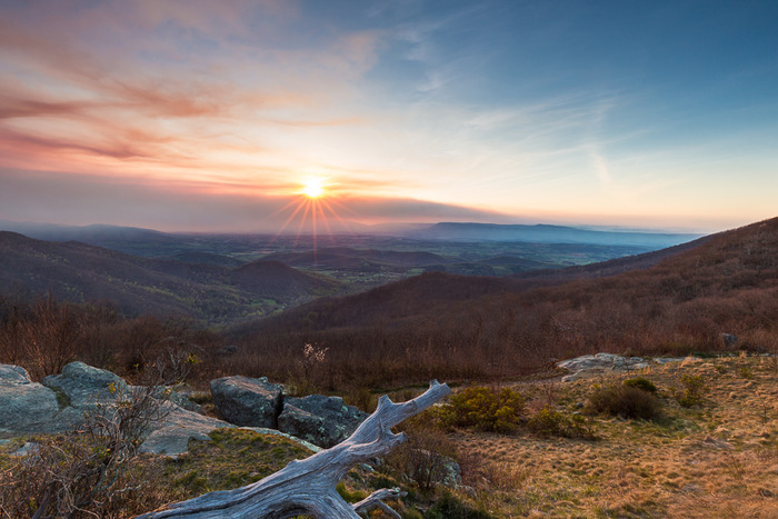 Shenandoah Wildfire Sunrise