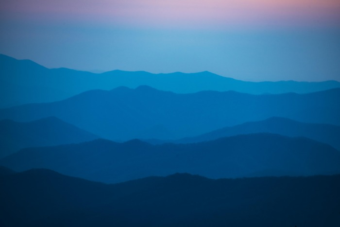 The Blue Hour Great Smoky Mtn Natl Park